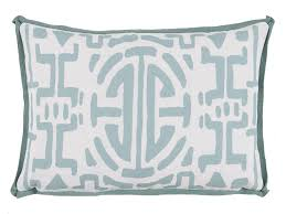 outdoor lumbar pillows out35 mint surf geometric print outdoor lumbar pillow new trends