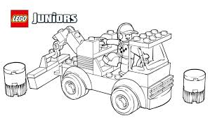 Small Picture LEGO Juniors Racetrack Tow Truck Coloring Page Coloring pages