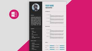 Cv Resume Template Stunning CVResume Template Design Tutorial With Microsoft Word Free PSDDOC