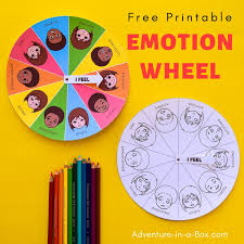 Free Printable Mood Emotion Wheel Chart For Children
