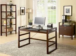 contemporary glass office. Cherry Finish Modern Glass Top Home Office Desk Woptions In Contemporary U2013 Rustic G