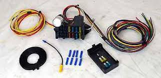 12v 10 circuit basic wiring harness fuse box street hot rat rod 8 circuit universal wire harness muscle car hot rod street rod rat rod new