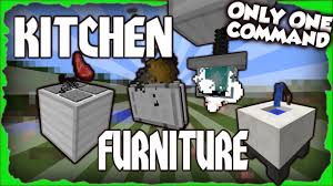 Minecraft Furniture Kitchen Kitchen Furniture Minecraft 1112 One Command Block Youtube