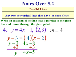 notes over 5 2 parallel lines