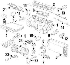 parts com® bmw heater radiator partnumber 64118363779 1997 bmw 528i base l6 2 8 liter gas evaporator heater components