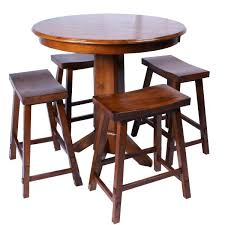 round wood pub table kitchen gorgeous round bar table set pub tables ocean reef home and