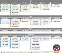 Montreal Canadiens Depth Chart The Updated Montreal Canadiens Organizational Depth Chart
