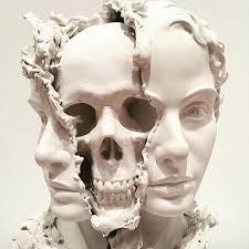 skull art surreal sculpture taiji taomote