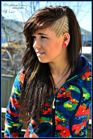 Side Cut Designs Pin On Edgy Hair Cut Styles Colors