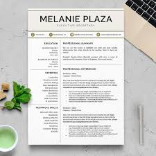 Does Word Have A Resume Template Interesting Modern Resume Template Professional Resume Template For Word Etsy