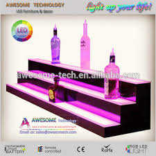 Bar Bottle Display Stand Magnificent Led Light Bottle Holder Bar Shelf Bar Liquor Bottle Stand Led