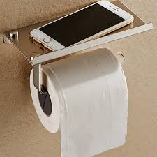 Bathroom Tissue Fascinating Stainless Steel Bathroom Toilet Phone Paper Holder With Shelf Tissue