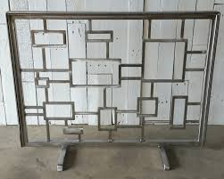 modern fireplace screens black fireplace screens houzz fireplace screens