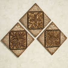 >abrielle dynasty metal wall plaque set abrielle dynasty wall plaque set antique gold set of three touch to zoom