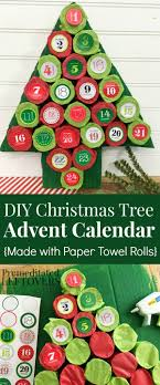 Christmas Tree Advent Calendar Tutorial - Make this homemade advent calendar  with upcycled paper towel rolls