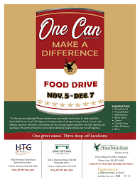 Food Drive Posters Food Drive One Can Make A Difference