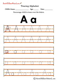 Letter Tracing Templates Tracing Alphabet Worksheets Aussie Childcare Network