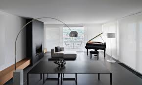 modern black white minimalist furniture interior. simple interior kitchen open contemporary design ideas with nice dining and mini black white  living room viewed from  on modern minimalist furniture interior