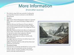 the little ice age in place of final essay   age 4 more information