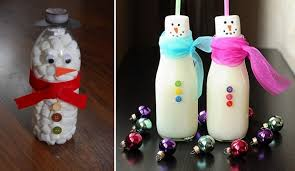 Decorated Plastic Bottles Handmade christmas crafts 60 ways to recycle glass bottles 16