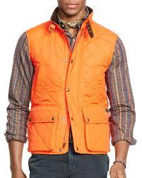 Ralph lauren Polo Quilted Vest in Orange for Men | Lyst & Gallery Adamdwight.com