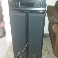 sony tower speakers. sony stereo, pioneer tower speakers, paradigm centre speaker-4 hdmi in 1 out speakers