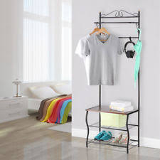 Coat Rack And Shoe Storage Entryway Bench Coat Rack EBay 84