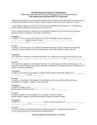 Resume Objectives For Business Writing A Resume Objective Statement