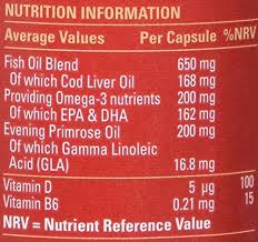 seven seas omega 3 fish oil plus cod liver oil plus evening primrose oil 90