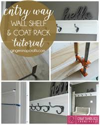Wall Shelf Coat Rack Craftaholics Anonymous DIY Shelf and Coat Rack 58