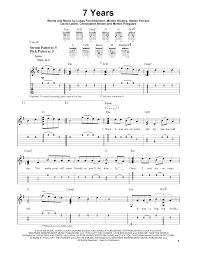 7 years old sheet music 7 years sheet music direct