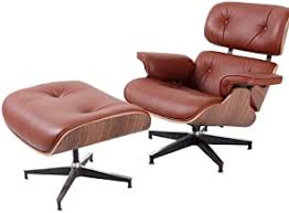 Living Room Furniture Eames <b>Lounge Chair</b> with Ottoman White ...