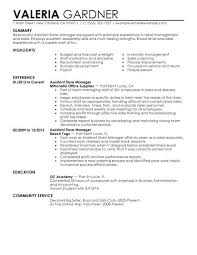 Sample Resumes For Retail Assistant Store Manager Resume Example