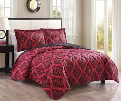 Bedroom: 3 Piece King Red Black Coverlet Sets Quilt & 3 Piece King Red Black Coverlet Sets Quilt Adamdwight.com