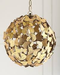 jamie young antiqued brass erfly pendant