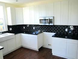 Delightful Black Subway Tile Backsplash Pretty Modern Kitchens In Kitchen With Images  Of Fresh White Cabinets