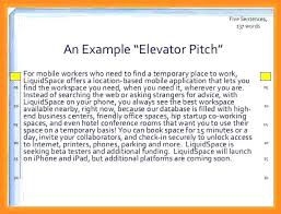 Elevator Pitch Examples For Students Elevator Speech Template For Students Golove Co