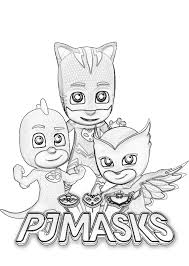 Pj Masks Coloring Pages Printable At Getdrawingscom Free For
