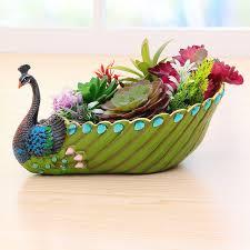 Decorative Planter Boxes Decorative Modern Flower Pot For Succulent Bonsai Deskindoor Mini 92