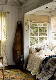 bedroom nook ideas with roman blinds and and bedding and area rug
