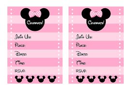 minnie mouse invitation template free minnie mouse invitations printable rome fontanacountryinn com