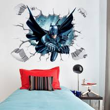 batman through wall stickers with decor decal art removable vinyl art wall decals
