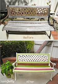 park bench rehab before and after