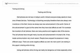 thesis statement for texting while driving essay  thesis statement for texting while driving essay