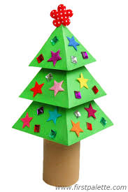 3D Paper Christmas Tree Craft | Kids' Crafts | FirstPalette.com