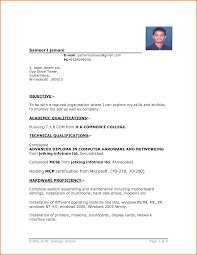 Word Resume Template Free Beauteous Simple Resume Format Download