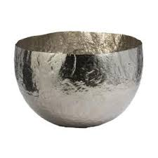 Large Silver Decorative Bowl Titan Lighting Hammered Oblong Large Decorative Bowl In NickelTN 25