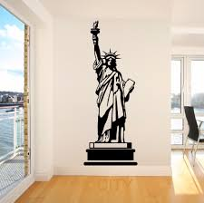 liberty bedroom wall mural: statue of liberty usa america new york landmark wall art room sticker decal door window stencils