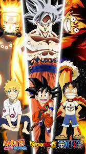 naruto,goku & luffy | Anime dragon ball super, Anime, Anime dragon ball