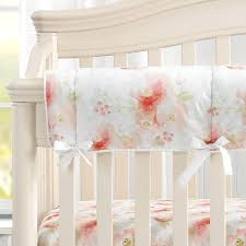and pink watercolor fl crib bedding set vintage for p